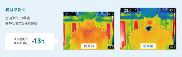 レオンポケット使用時のサーモグラフィ画像