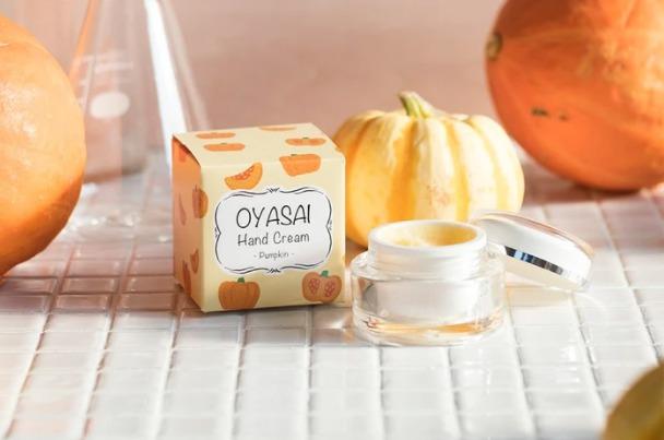 かぼちゃが原料のハンドクリームの画像
