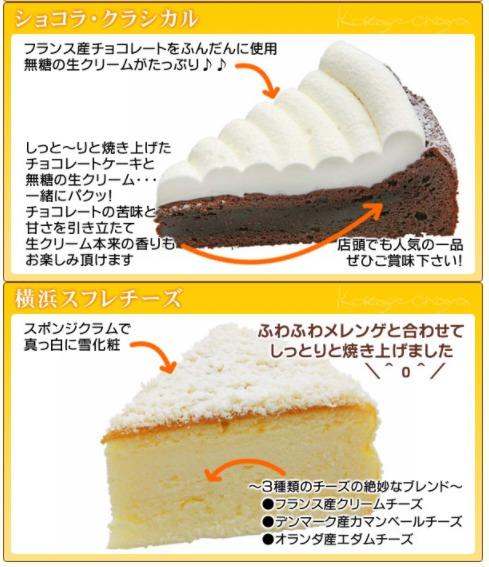 ケーキセットの種類