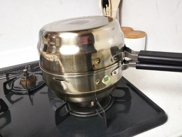 天ぷら鍋、揚げてお仕舞を2個セットした画像