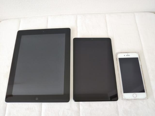 NECの8インチタブレットの大きさ