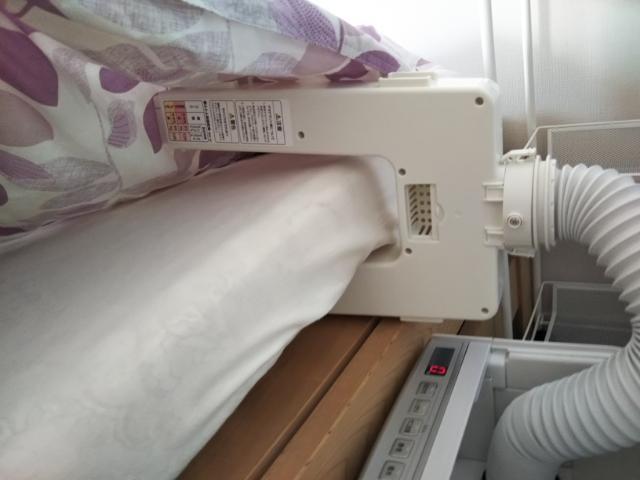 布団乾燥機で敷ふとん両面乾燥